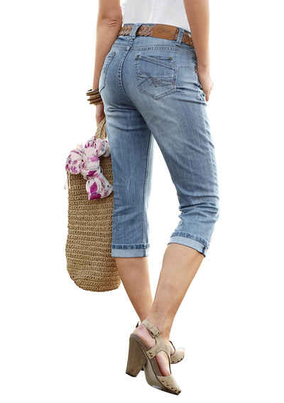 Aniston CASUAL Caprijeans in Used-Waschung