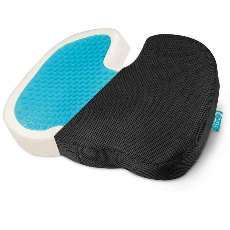 Beautissu Sitzkissen »BeauErgo GS«, ergonomisches Gel Sitzkissen