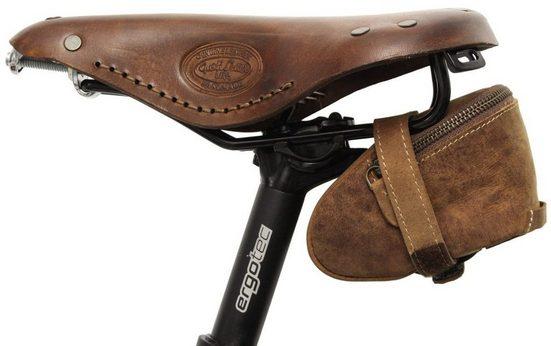 Gusti Leder Satteltasche »Gino B.«, Satteltasche Schlauchtasche Fahrradtasche für Werkzeug Ledertasche Vintage Braun Leder