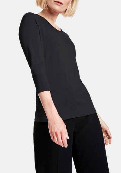 GERRY WEBER 3/4-Arm-Shirt mit Rollkante am Halsausschnitt