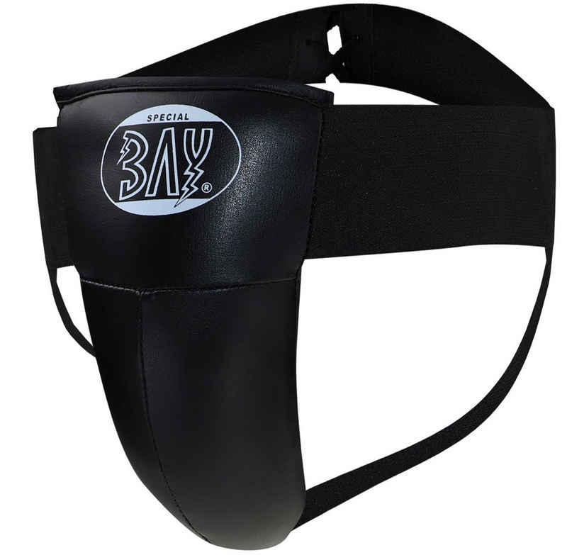 BAY-Sports Tiefschutz »Twin Herren Jungen Suspensorium Sport schwarz«, Kunstleder, für Erwachsene und Kinder, XXS - XL