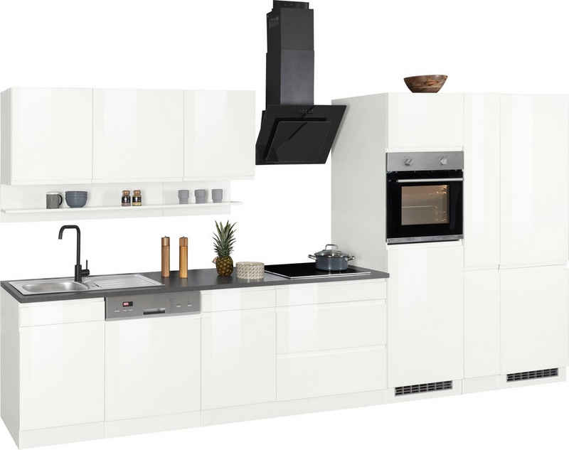 HELD MÖBEL Küchenzeile »Virginia«, mit E-Geräten, Breite 390 cm