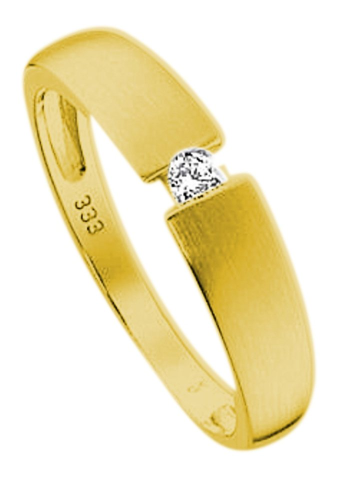 firetti Ring: Spannring-Optik mit Diamant, Gelbgold in Gelbgold 333