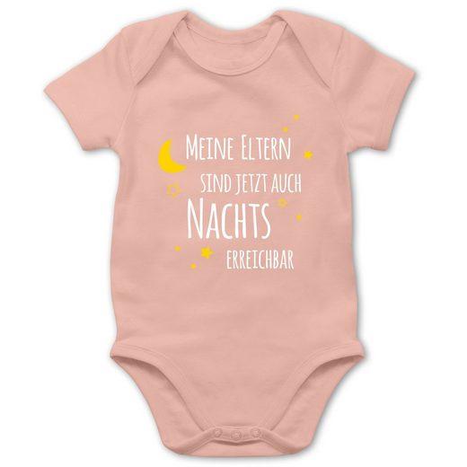 Shirtracer Shirtbody »Meine Eltern sind сейчас auch Nachts erreichbar - Baby Body Kurzarm«