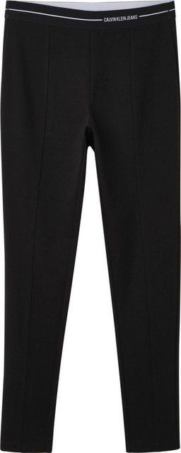 Hosen - Calvin Klein Jeans Jerseyhose »Milano logo elastic legging« mit Calvin Klein Jeans Logo Elastikwaistband ›  - Onlineshop OTTO