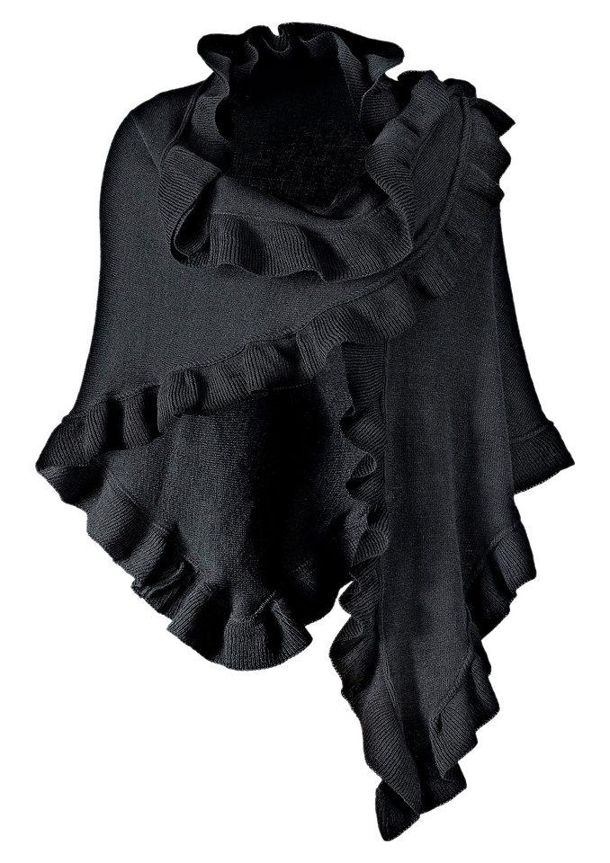 Poncho in schwarz