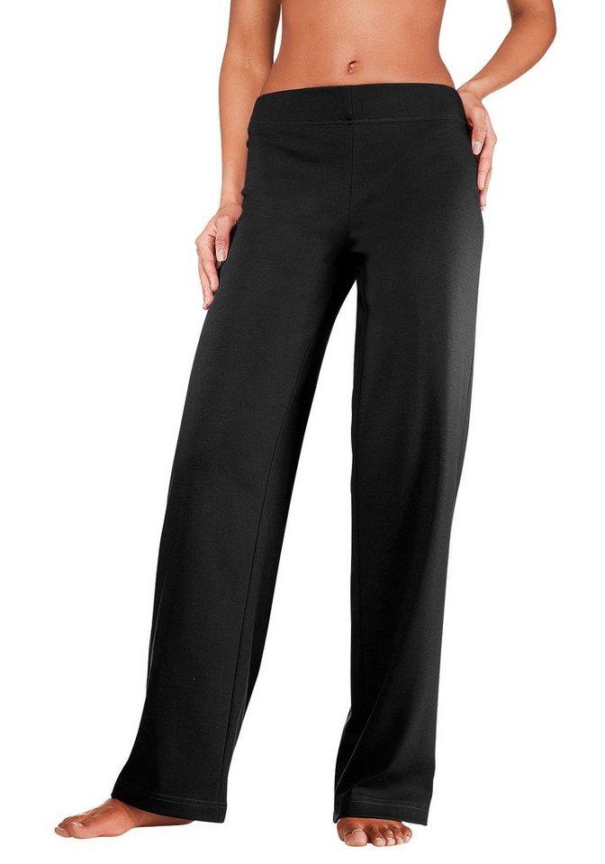 Vivance Homewearhose mit geradem Bein in L-Größen in schwarz