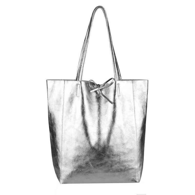 ITALYSHOP24 Schultertasche »Made in Italy Damen Leder Tasche Schultertasche«, ein Leichtgewicht, als Handtasche, Henkeltasche tragbar