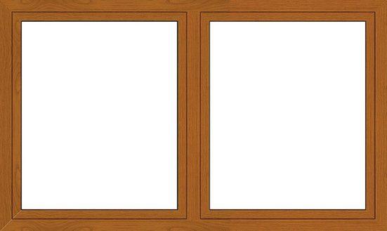 RORO Kunststoff-Fenster »Classic 420«, BxH: 170x120 cm, eichefarben-dunkel, zweiflügelig