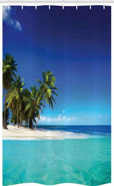 Abakuhaus Duschvorhang »Badezimmer Deko Set aus Stoff mit Haken« Breite 120 cm, Höhe 180 cm, Urwald Seaside Nature Tropic