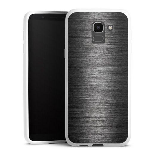 DeinDesign Handyhülle »Metal Look - Anthrazit« Samsung Galaxy J6 (2018), Hülle Metallic Look Metall Thermomixmotive