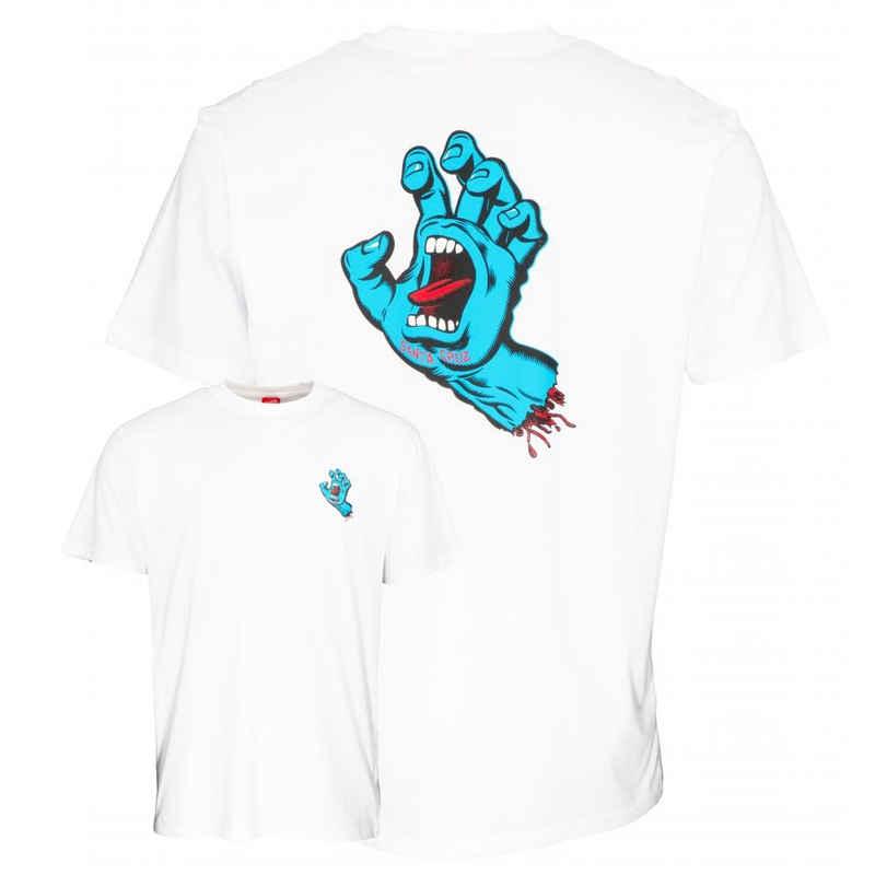 Santa Cruz T-Shirt »Screaming Hand Chest - white«
