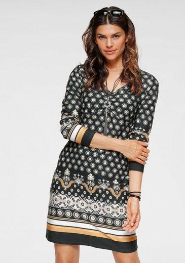 Boysen's Jerseykleid mit ornamentalem Alloverprint
