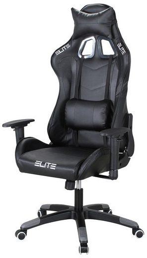 Elite Gaming-Stuhl »ELITE DESTINY MG200«, Racing Optik, mit Rücken- und Nackenkissen, Bürostuhl - Chefsessel - Schreibtischstuhl - Drehstuhl