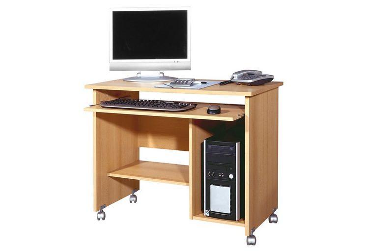 GERMANIA Computertisch mit Tastaturauszug und Druckerfach