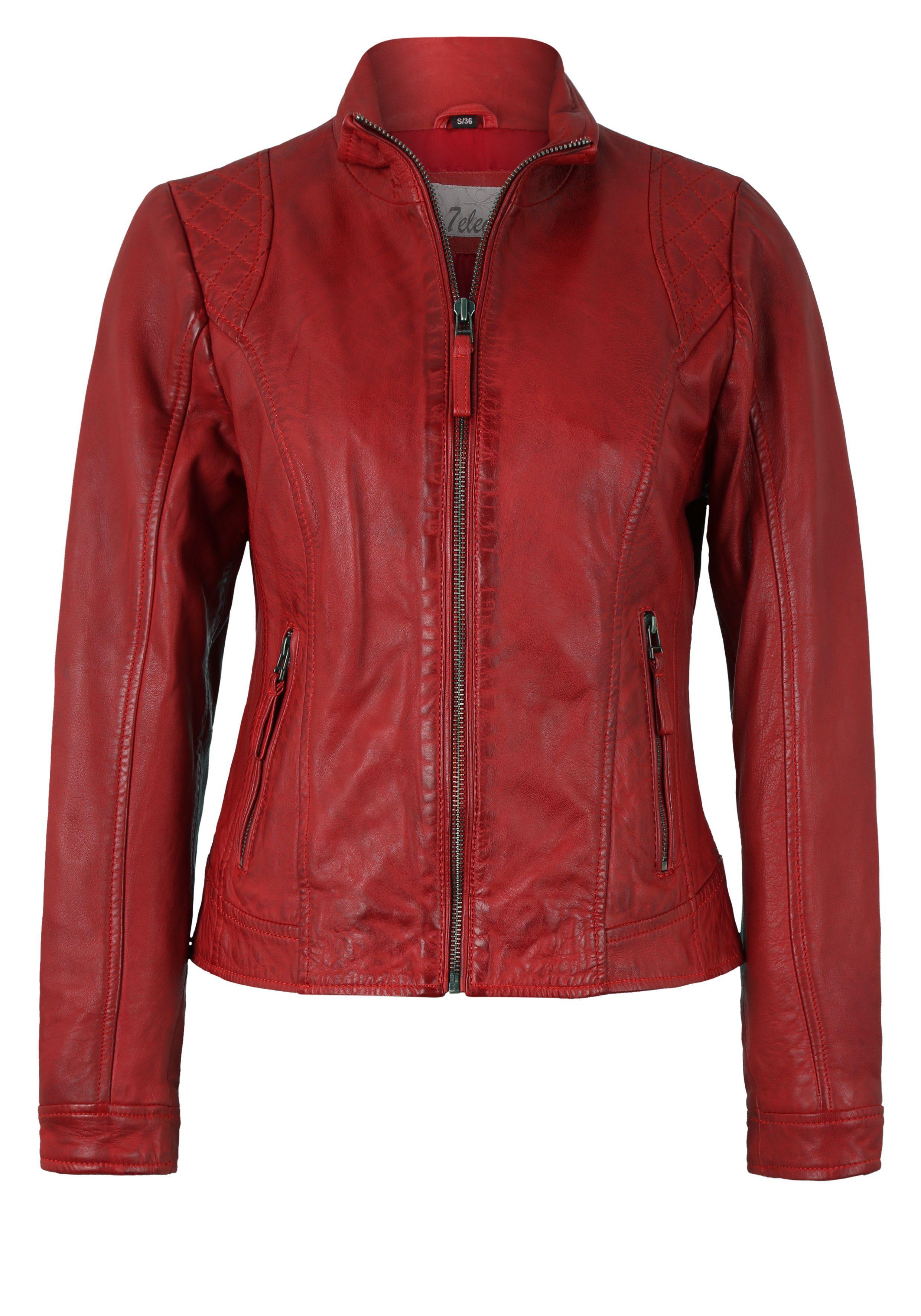 7eleven Lederjacke im klassischen Design, Material aus echtem Leder steht für Qualität