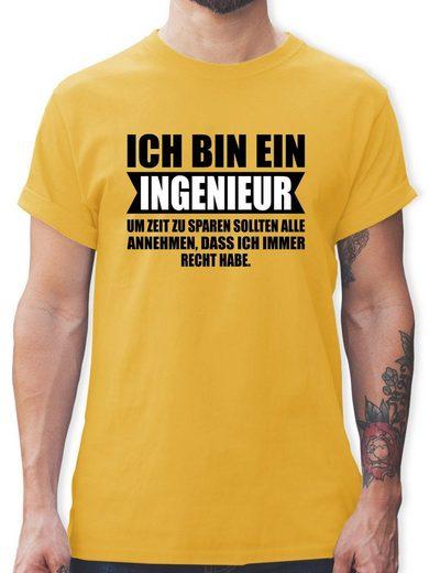 Shirtracer T-Shirt »Ich bin Ingenieur - Herren Premium T-Shirt - T-Shirts« Statement Tasse