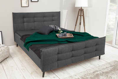 riess-ambiente Bett »SEATTLE 160x200cm anthrazit«, Polsterbett · Retro Design · mit Ziersteppung