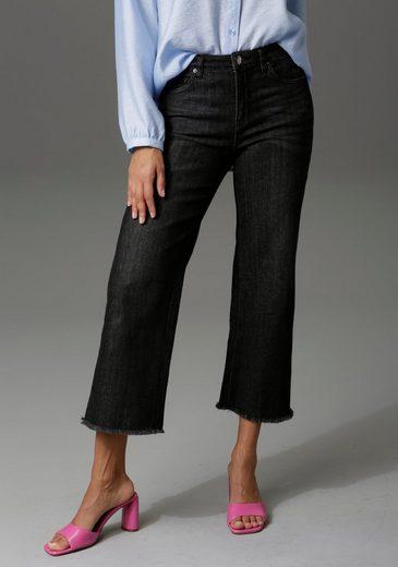 Aniston CASUAL 7/8-Jeans mit leicht ausgefranstem Beinabschluss - NEUE KOLLEKTION