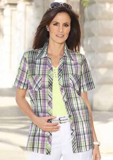 Casual Looks Bluse im hochwertigen Webkaro-Dessin
