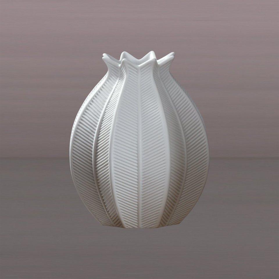 Kaiser Porzellan Vase Coconut Leaf in Weiß