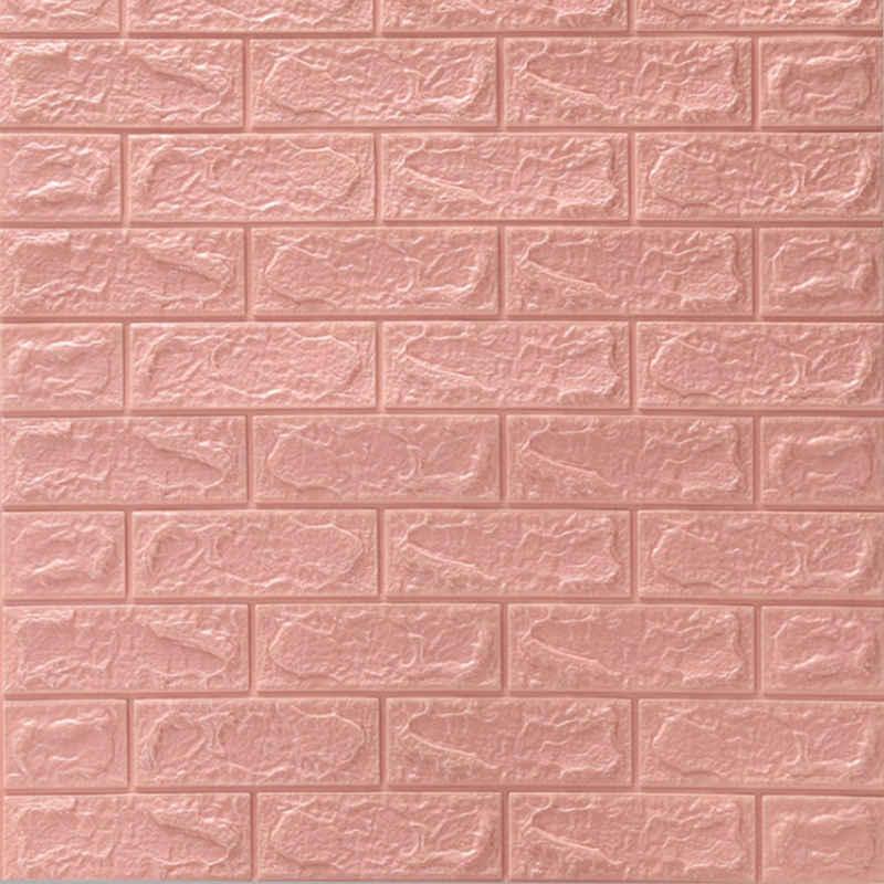 DTC GmbH 3D-Tapete »77cm x70 cm«, 3D, Backstein, Steinoptik, (6 St), Selbstklebende Wandpaneele, Wasserfest, Anti-Kollision, Möbelfolie für Schlafzimmer, Wohnzimmer, TV Decor Hintergrund
