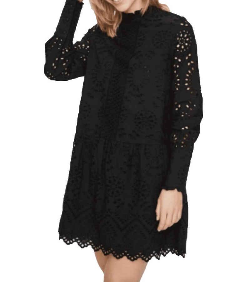 Vero Moda Tunikakleid »VERO MODA Perfect Tunika-Kleid kurzes Damen Spitzen-Kleid Mode-Kleid Schwarz«