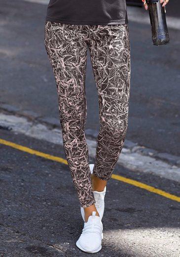 LASCANA ACTIVE Leggings mit grafischen Blumenmuster