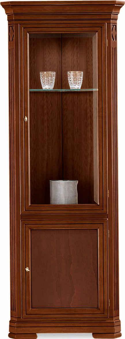 SELVA Eckvitrine »Villa Borghese« Modell 7384, Türverglasung mit Facettenschliff, Breite 71 cm