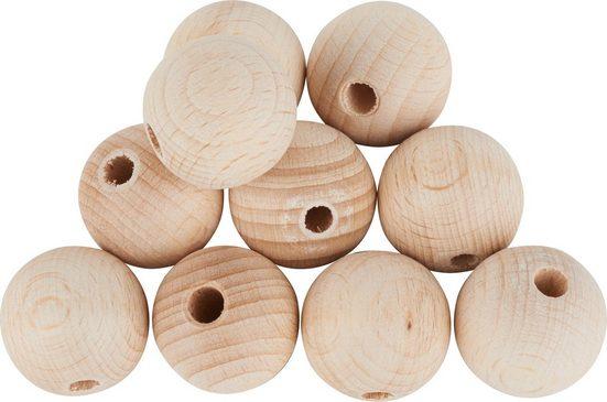 Holzkugeln durchgebohrt, Ø 25 mm