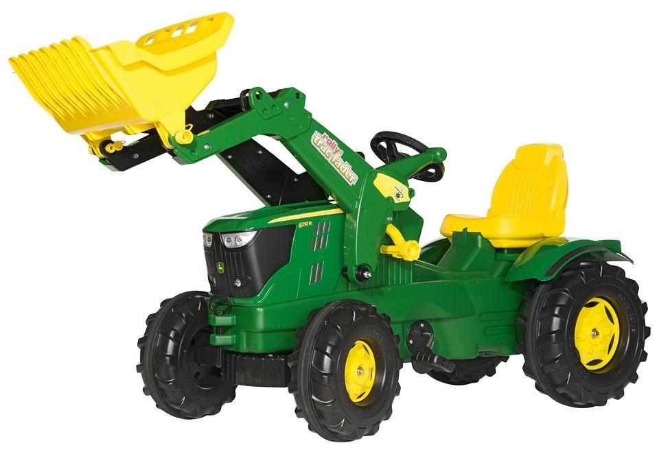 rolly toys® Trettraktor mit Frontlader »rollyFarmtrac John Deere 6210 R« in grün-gelb