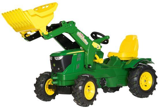 rolly toys® Trettraktor »rollyFarmtrac John Deere 6210 R«, mit Frontlader und Luftbereifung