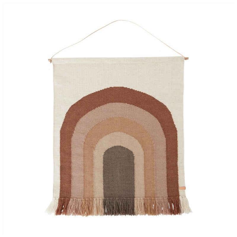 Wandteppich »Follow The Rainbow light brown«, OYOY, Wandaufhänger, Wandbehang, Wanddekoration, Kinderzimmer, Babyzimmer