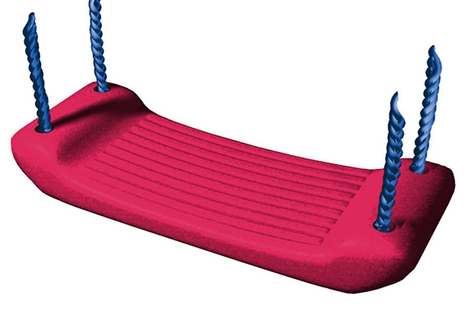 Dein Spielplatz Zubehör für Schaukel oder Spielturm » Schaukelsitz, rot«