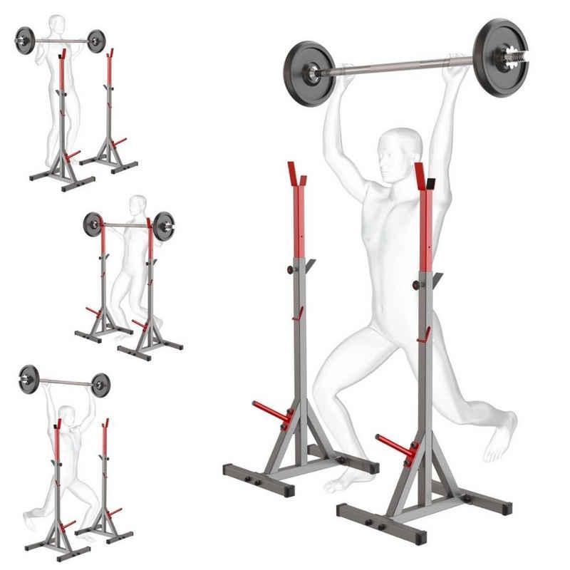 K-SPORT Kraftstation »2 x Langhantelständer I Langhantelablage bis 250kg verstärkt zum effektiven Muskeltraining I Squat-Rack für Langhanteltraining I Kniebeugenständer I Professionelle Fitnessgeräte für Zuhause«