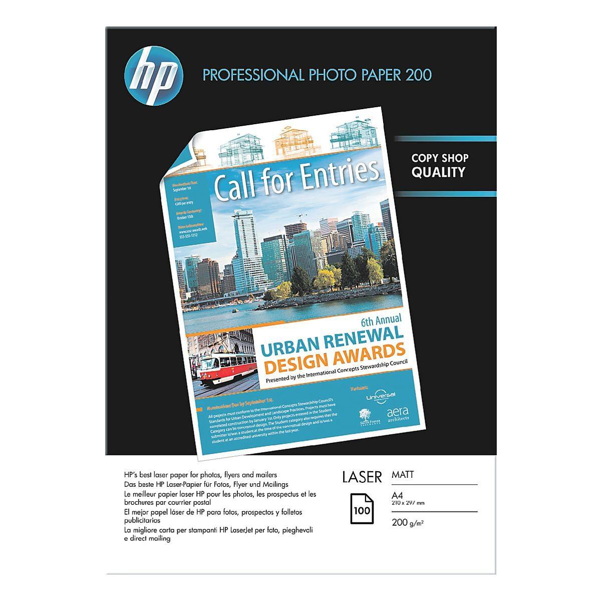 HP Foto-Laserpapier »HP Professional Photo Paper 200 Laser ...