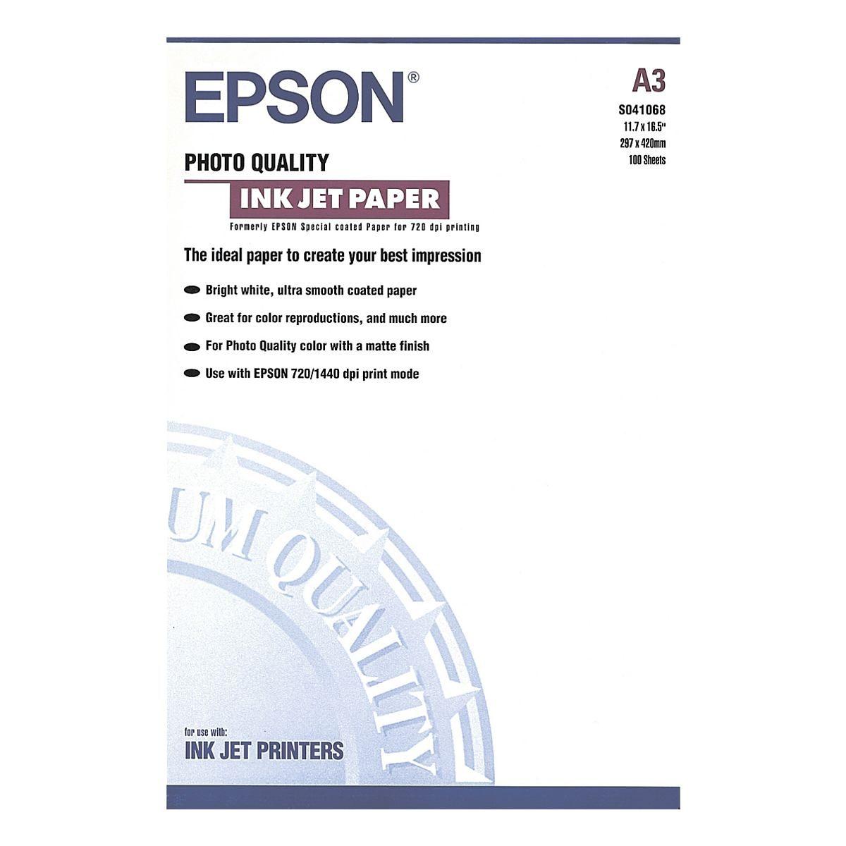 Epson InkJet-Papier »Photo Quality InkJet«, A3