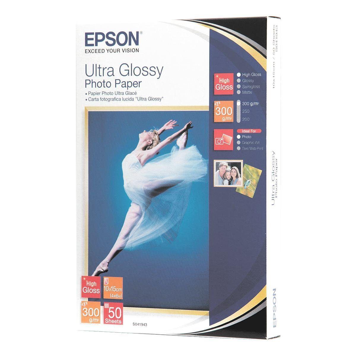 Epson Fotopapier »Ultra Glossy Photo Paper« 10x15 50 Blatt