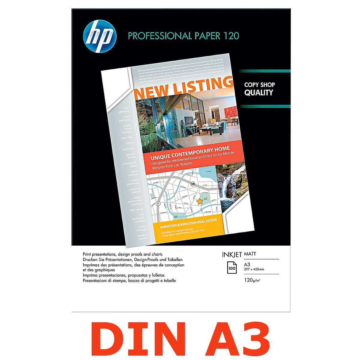 HP InkJet-Papier »HP Professional 120 matt«, A3