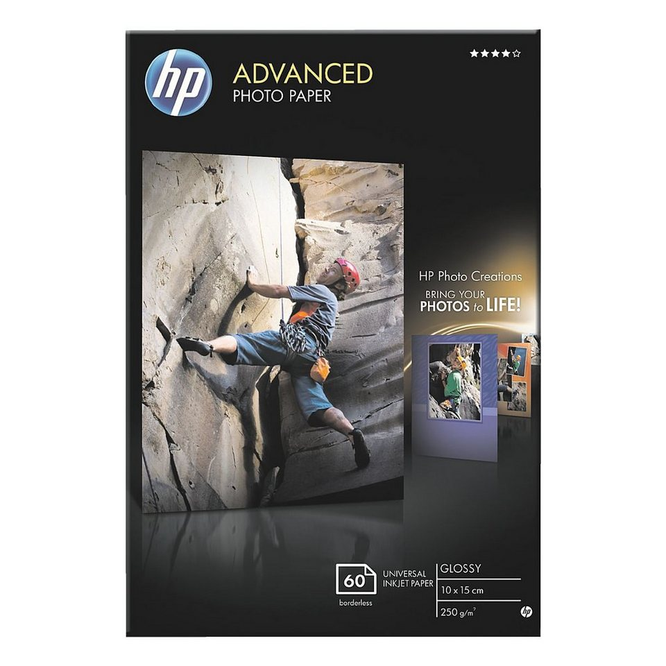 HP Fotopapier »HP Advanced Fotopapier 10x15 cm«