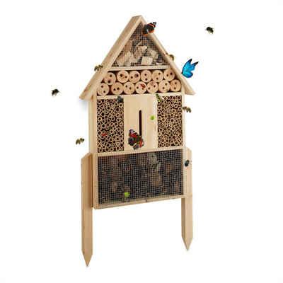 relaxdays Insektenhotel »Insektenhotel natur Größe L«