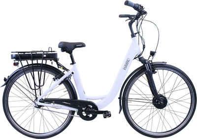 HAWK Bikes E-Bike »HAWK eCity Wave«, 7 Gang Shimano Nexus 7-Gang Schaltwerk, Frontmotor 250 W