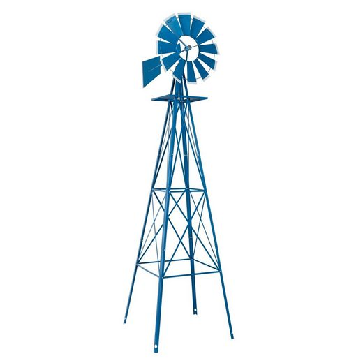 FCH Windrad »65 x 245cm«, Windspiel Windmühle Wetterfahne Garten Ornamental Decor