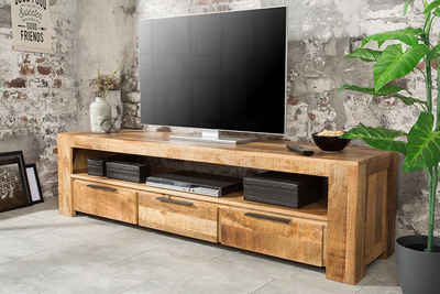 riess-ambiente Lowboard »IRON CRAFT 170cm natur«, aus Massivholz
