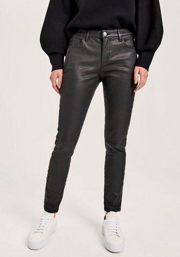 OPUS Skinny-fit-Jeans »Evita refined« mit leicht scheinender Beschichtung
