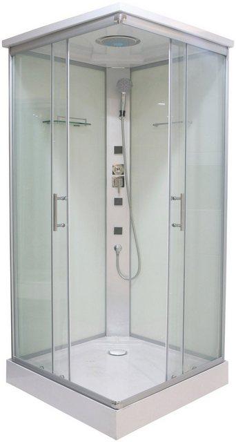 Duschen und Zubehör - Sanotechnik Komplettdusche »Twist«, BxT 80x80 cm, Einscheibensicherheitsglas  - Onlineshop OTTO