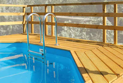 weka Terrasse »Sonnendeck«, BxT:139x242 cm, passend für Holzpool Mali 3