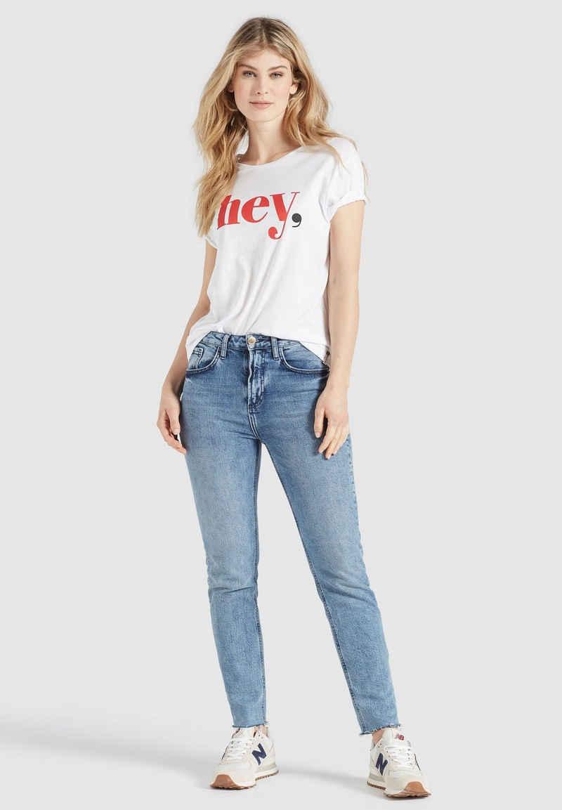 khujo T-Shirt »BANANI HEY« im Loose Fit aus weichem Jersey
