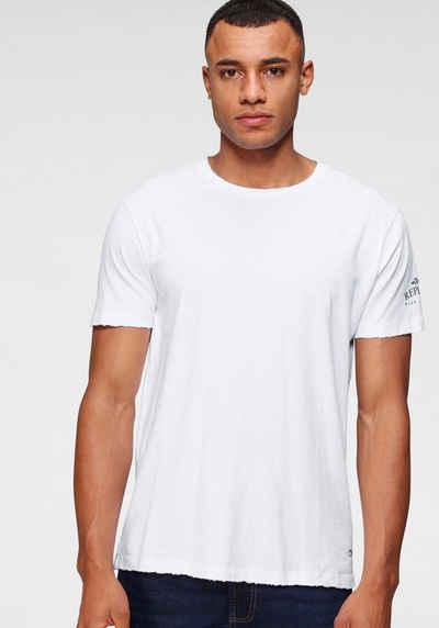Replay T-Shirt mit offenen Kanten