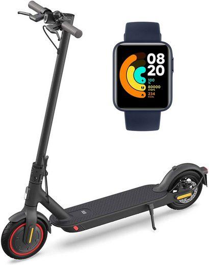 Xiaomi E-Scooter »Mi Electric Scooter Pro 2 «, 600 W, 20 km/h, 8.5 Zoll Reifen, 45km & Mi Watch Lite«, 600 W W, 20,00 km/h, 8,5 Zoll Reifen, 45km Reichweite, App